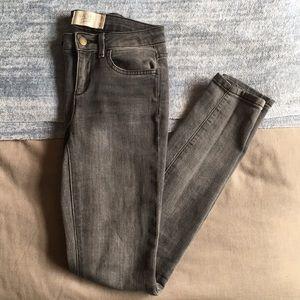 Rachel Roy grey denim skinny jeans size 25
